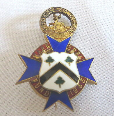 1922 Silver Masonic Mark Benevolent Fund Badge - Province Of Herts (12A)