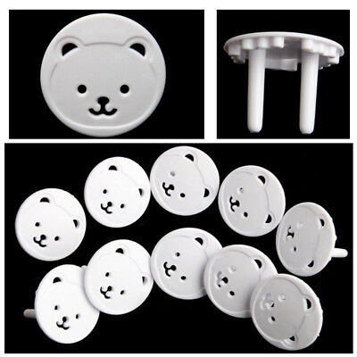 5 PCS Safety Guard Protection cover Bear Plugs Child  Electrical Outlet