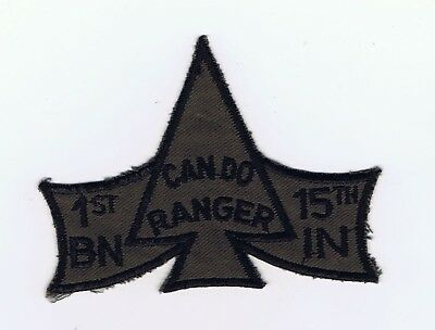 Wartime 1St Bn, 15Th Inf Regt. Ranger, Recondo Subdued Pocket Patch.