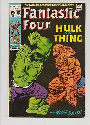 Fantastic Four #112 Vg/vg+ 1971 Marvel
