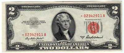 Fr.1510* $2 1953 A STAR RED SEAL LEGAL TENDER NOTE CHOICE UNCIRCULATED