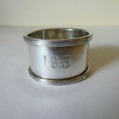 Vintage Elkington & Co Silver Plated Napkin Ring, Red Star Line Table 195  c1922