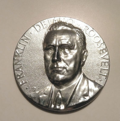 1933 FRANKLIN ROOSEVELT Medal Courageous Leadership Achievements ACTION FDR