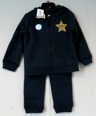 Girl's Carter's Super Star Hooded Sweat Suit, Navy Sizes 18M, 2T, 3T NWT