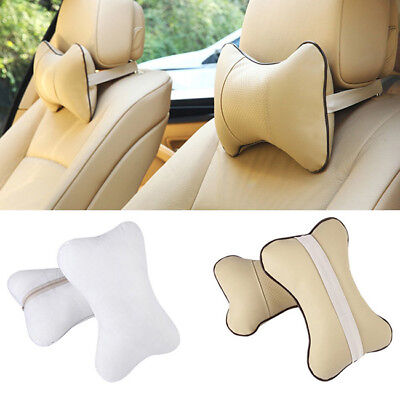 Colors Car Auto Seat Head Neck Rest Pillow Cushion Breathe HeadRest Bone Pad S