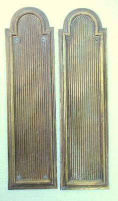 Pair of Vintage French Brass Door Finger Push Plates #C4