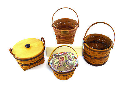 (Lot of 4) Longaberger Assorted Decorative Baskets Collection USA (0878)