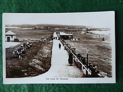 "Fife.  Golf at St Andrews. View of the Links. Holmes RP "" Herald "" Series."