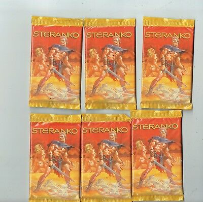 steranko cards 8 cards per pack from 1995 6 6 packs sealed