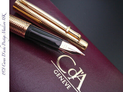 1978 Caran D'ache Prestige Madison Boxed 18K Flagship Vintage Fountain Pen Mint