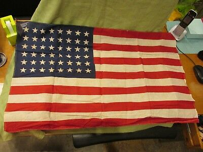 Vintage World War II WWII Pre-1949 US American Flag With 48 Stars Ex Cond. USA