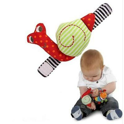 Cute Animal Infant Baby Kids Hand Wrist Bells Foot Sock Rattles Soft Toys NEW S