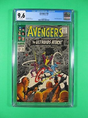 Avengers #36 CGC 9.6 NM+ White Pages 1966 Marvel Comic Captain America Hawkeye