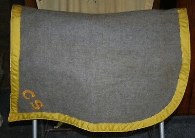 Vintage Us Military Cavalry Mcclellan Saddle Pad Blanket Shabraque