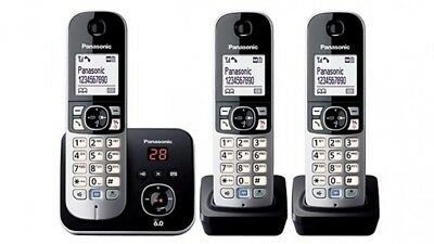 Panasonic Cordless Phone Answer Machine 3 HandSet TG6823ALB