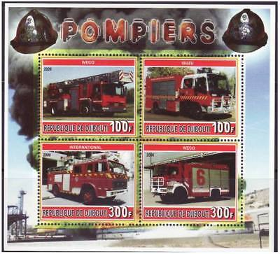 Fire Engines -  Sheet of 4 Stamps M1118