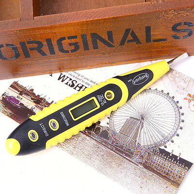 12-220V AC DC Digital Voltage Tester Tester Pen Light LED Electric Sensor