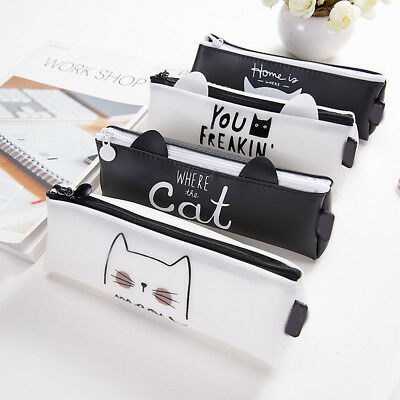 Originality Cute Cat Pencil Case Office School Stationery Makeup Bags Kids Gifts