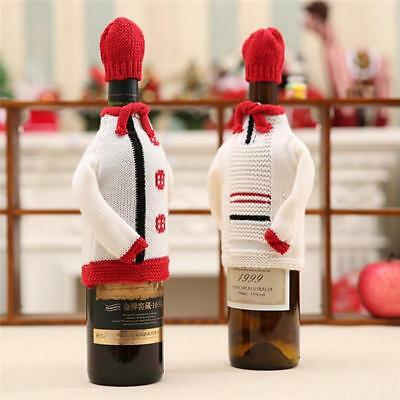 Wine Bottle Cover Bag Knitted Sweater Hat Gifts Bag Xmas Tree Bar Room Decor - S