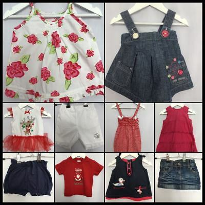 Baby Girls Size 00 Bulk Lot - Osh Kosh Cotton On Baby Sprout Jelly Beans H&M