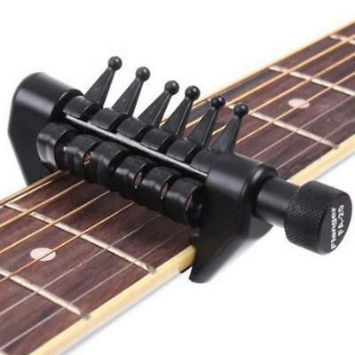 Black Multifunctional Acoustic Guitar Strings Capo Open Tuning Spider Chords C