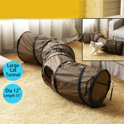 Cat Tunnel Large 4  Holes Pet Cat Play Tunnels Rabbit Toys Collapsible