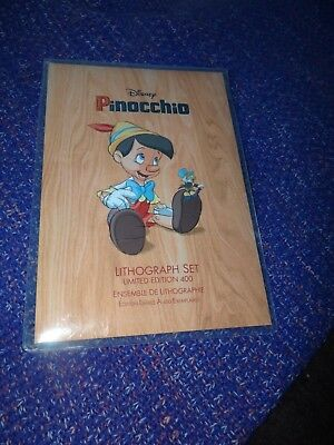 Disney Pinocchio Lithograph Set Limited Edition of 400 New