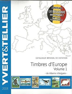 EUROPA CATALOGUE Y T 2018 VOLUME 1 STAMPS A to be B GERMANY - BELGIUM