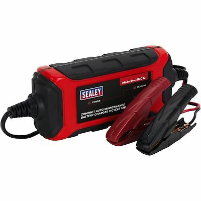 Sealey Compact Auto Maintenance Battery Charger 3-Cycle 12V