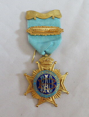 1979 Silver Raob Services Rendered Breast Jewel - Abbey Lodge Geb (1D)