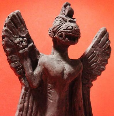 ANCIENT SUMERIAN DEMON Protector of Temples & Churches black stone statue