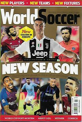 WORLD SOCCER- August 2018 issue (NEW) *Post included to UK/Europe/USA/Canada