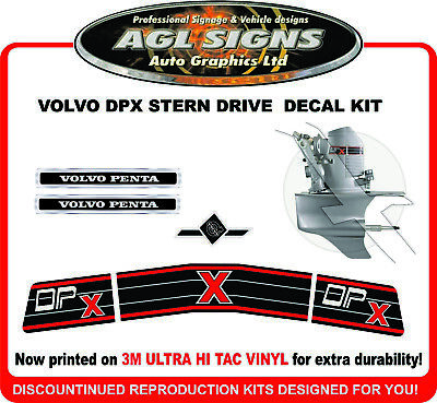 VOLVO PENTA DP X STERN DRIVE Outdrive Decal Kit  reproductions DPX DUAL PROP
