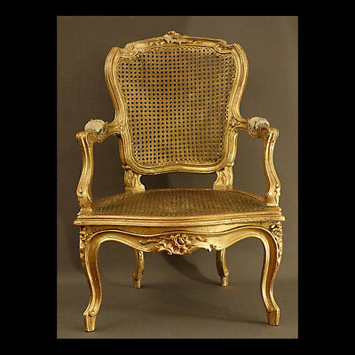 Rare Fauteuil D'enfant Louis Xv - Rare Children's Armchair Louis Xv Era