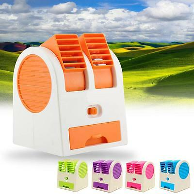 Portable USB Mini Air Conditioner Cool Fan Rechargeable for outdoor home cars GA