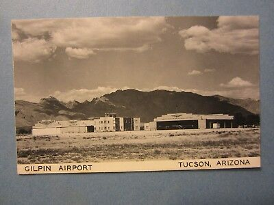 Old Vintage - TUCSON - ARIZONA - RPPC Real Photo POSTCARD - Gilpin Airport