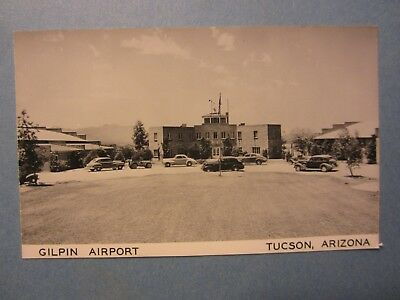 Old Vintage - TUCSON - ARIZONA - RPPC Real Photo POSTCARD - Gilpin Airport Autos