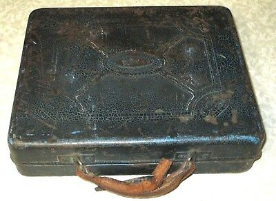 RARE Polydor Marked Metal carry case for 78 rpm RECORDS