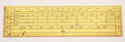 Superb Antique Bovine Surveyors Draughtsman Maths Drawing Ruler Rule Fine Qual