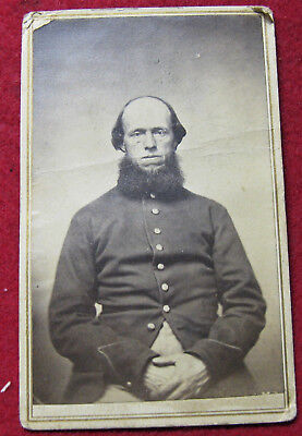 Wisconsin Middle Aged Soldier CdV, LaCrosse Backmark