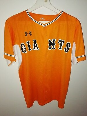 UNDER ARMOUR YOMIURI GIANTS ' ABE - 10 ' BASEBALL JERSEY - Size Large