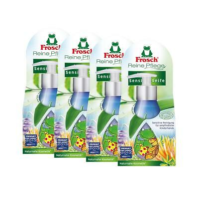 4x Frosch Reine Pflege Kinder Sensitiv-Seife 300 ml