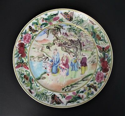 Fine Large Antique 19th Century Chinese Porcelain Plate