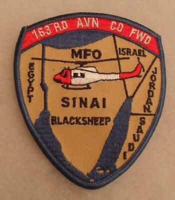 "1990's Army Aviation Patch For ""163Rd Avn Co Fwd Mfo Sinai Blacksheep""  Me"