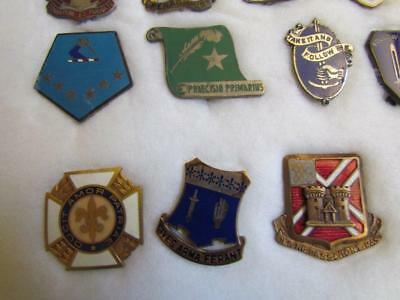 Vintage Field Artillery Pins some Sterling Silver