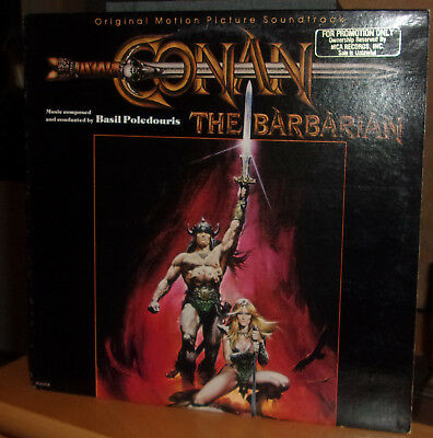 Basil Poledouris CONAN THE BARBARIAN Original Film Soundtrack 1982 LP Promo Copy