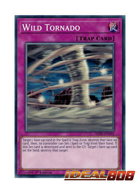 YUGIOH x 3 Wild Tornado - SDPL-EN032 - Common - 1st Edition Near Mint