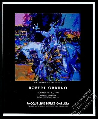 1992 Robert Orduno Whope and White Crow art SF gallery show vintage print ad