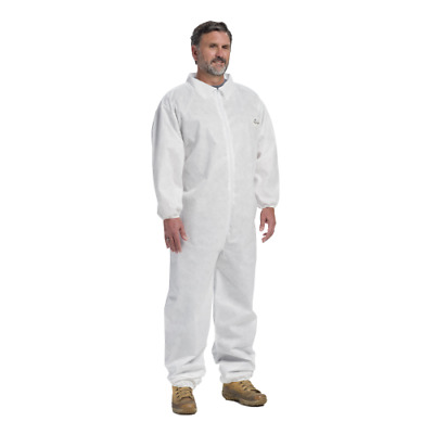 West Chester White Disposable Coverall Suit Elastic Wrist & Ankle Size Small