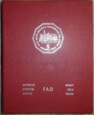 1978 FAO Food For All  Full UNC Coin Set / Album  Various Countries w/Silver